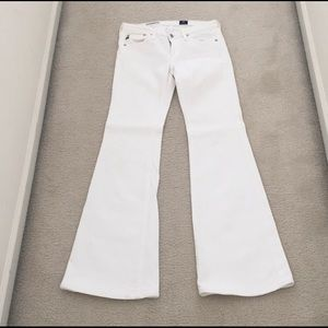 Adriano Goldschmied White Belle Bottom Jeans